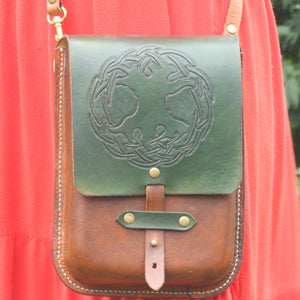 Galvin Leatherworks Tree of Life Celtic Knot Purse