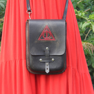Galvin Leatherworks Deathly Hallows - Crossbody Purse