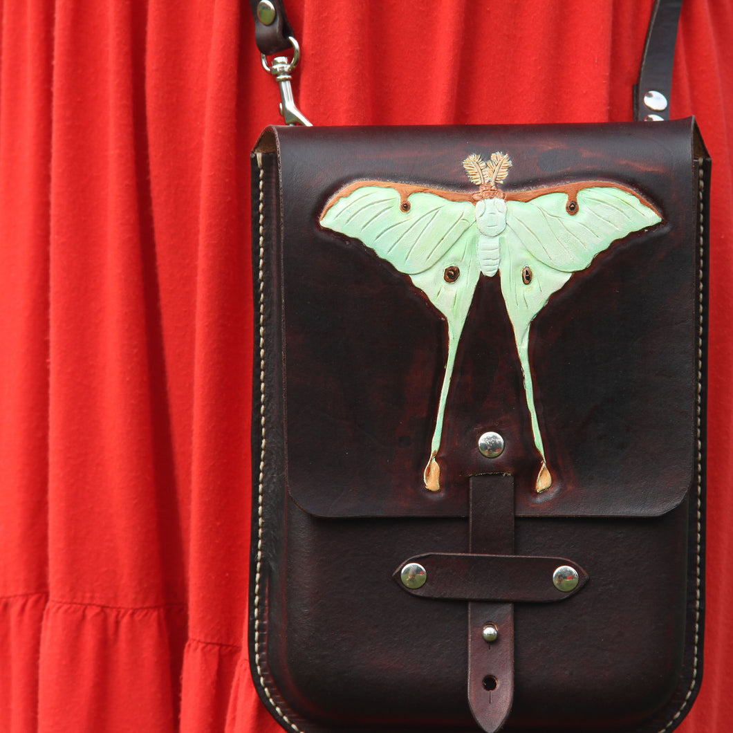Luna Moth Crossbody Purse
