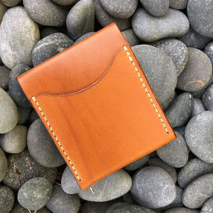 Ammonite Minimalist Bifold Wallet - Tan