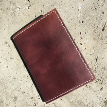 Pocket Journal - Burgundy with White Thread