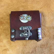 Steampunk Belt Pouch with Two Gears