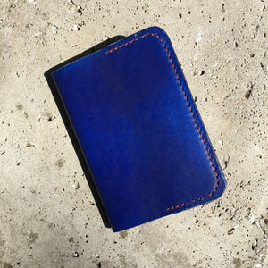 Pocket Journal - Blue with Rust Thread