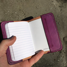 Pocket Journal - Purple with Black Thread - Some Spots