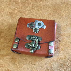 Steampunk Belt Pouch with Three Gears