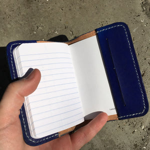 Pocket Journal - Blue with White Thread