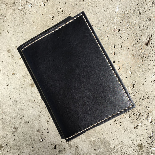 Pocket Journal - Black with White Thread