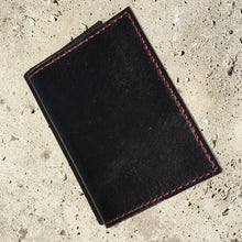 Pocket Journal - Black with Red Thread