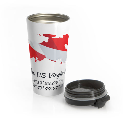 Stainless Steel Dive St. John Travel Mug