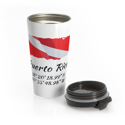 Stainless Steel Dive Puerto Rico Travel Mug