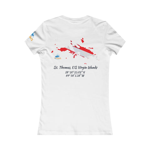 Women's St. Thomas Dive Flag Tee
