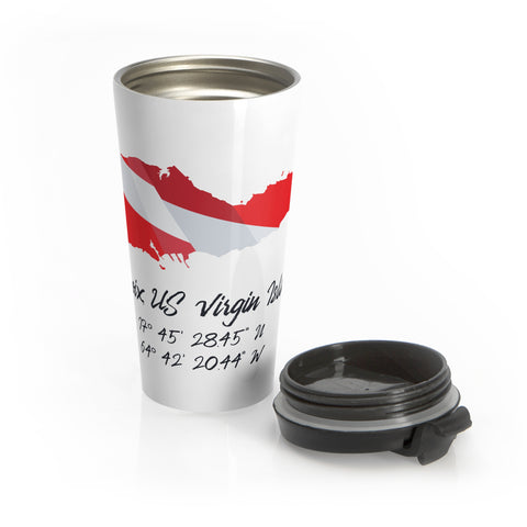 Stainless Steel Dive St. Croix Travel Mug