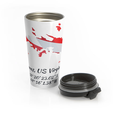 Stainless Steel Dive St. Thomas Travel Mug
