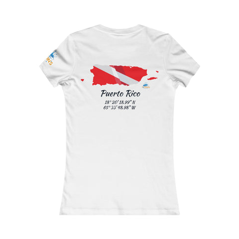 Women's Puerto Rico Dive Flag Tee