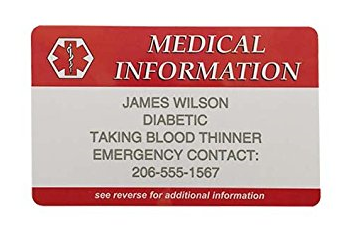 medical info wallet card