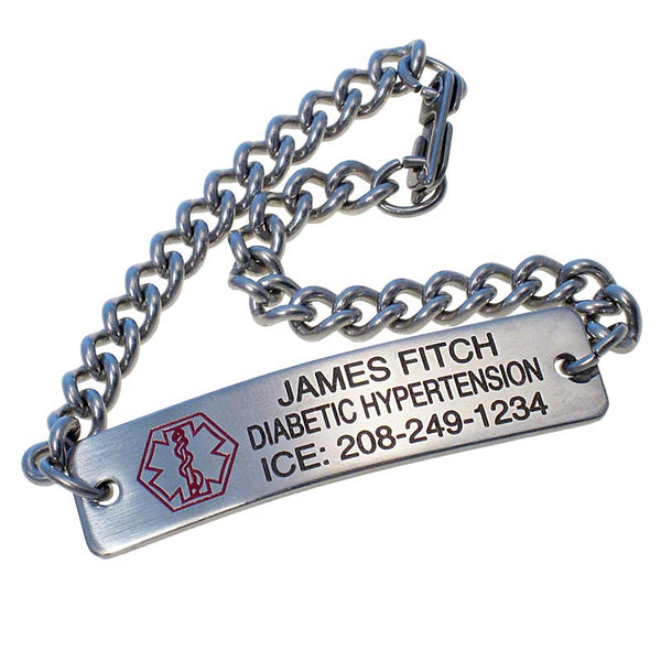 Stainless Steel Personalized Medical Bracelet
