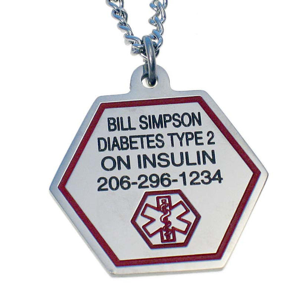 Stainless Steel Personalized Medical Necklace