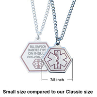 Small Stainless Steel Medical ID Necklace