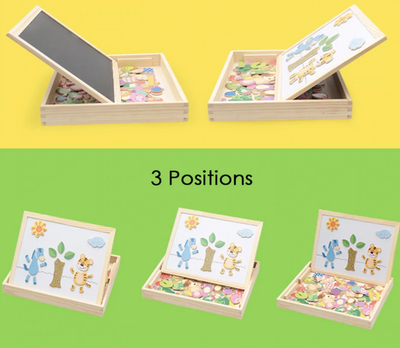 LilyBoard™  Educational Magnetic Box (With Whiteboard & Chalkboard)