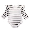 Ruffle Shoulder Stripe Onesie