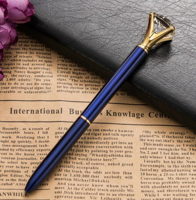 Big Carat Diamond Ballpoint Pen