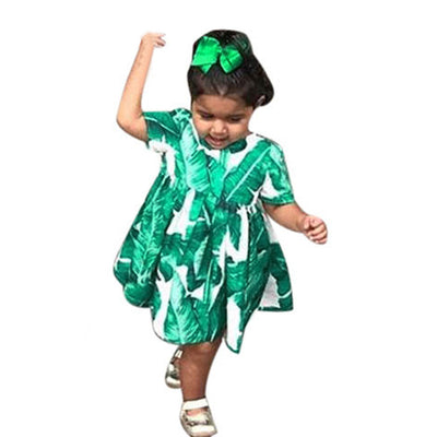 Mommy N Me Tropical Leaf Print Top/Dress