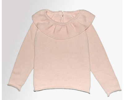 Charlotte Ruffle Neck Knit Sweater