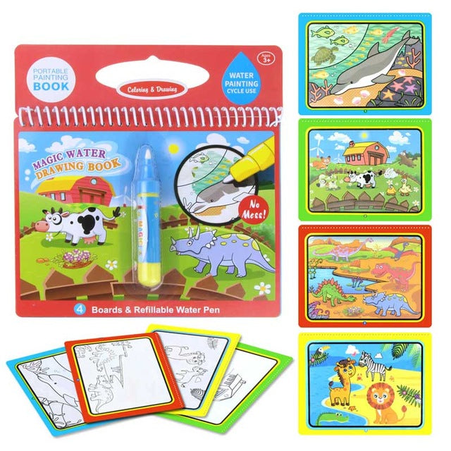Water Based Magic Coloring Books - daintyndapper