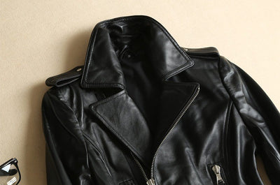 Women's Motorcycle Leather Bomber Jacket