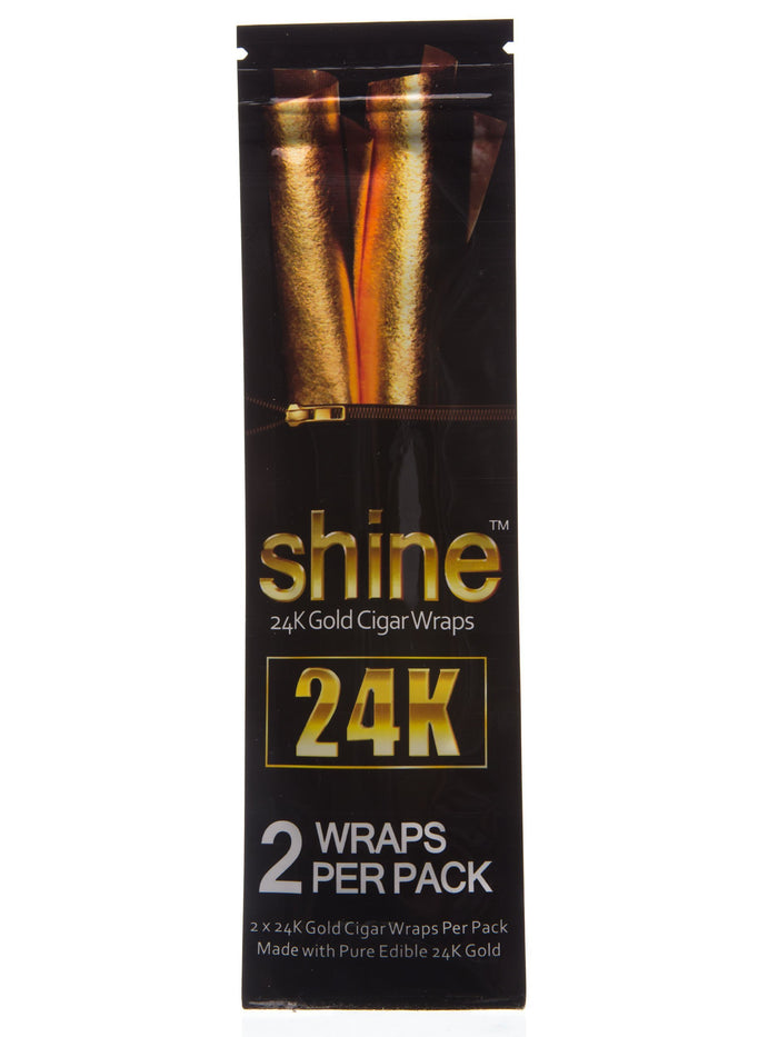 2 Pack Gold Cigar Wraps