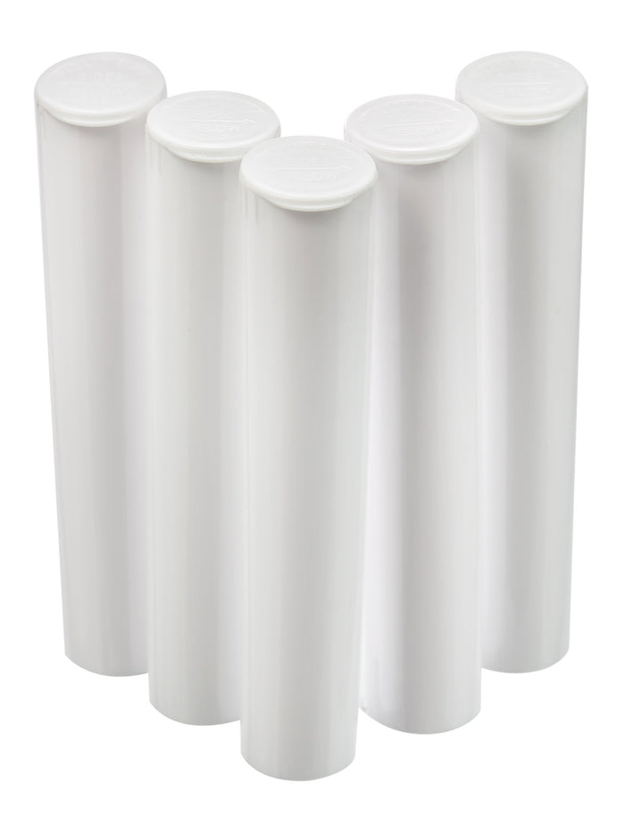 98mm pop top vials - 5 ct. White