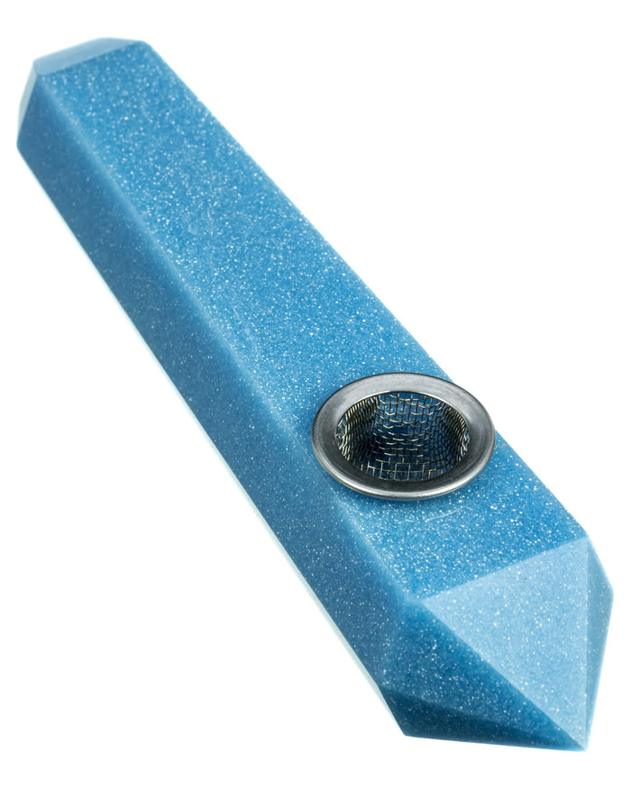 Blue Luminous Glow In the Dark Stone Pipe