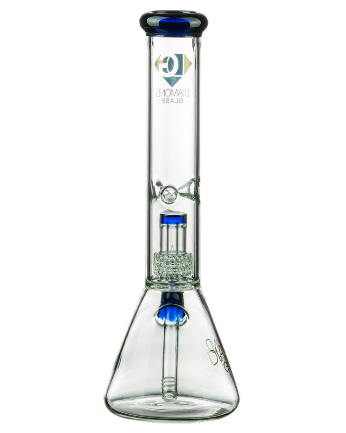 "Diamond Glass 14"" UFO Perc Beaker"