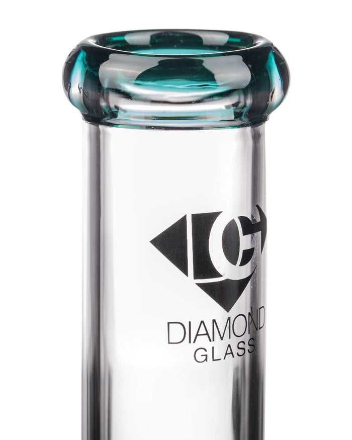 "Diamond Glass 8"" Basic Beaker Bong Teal"