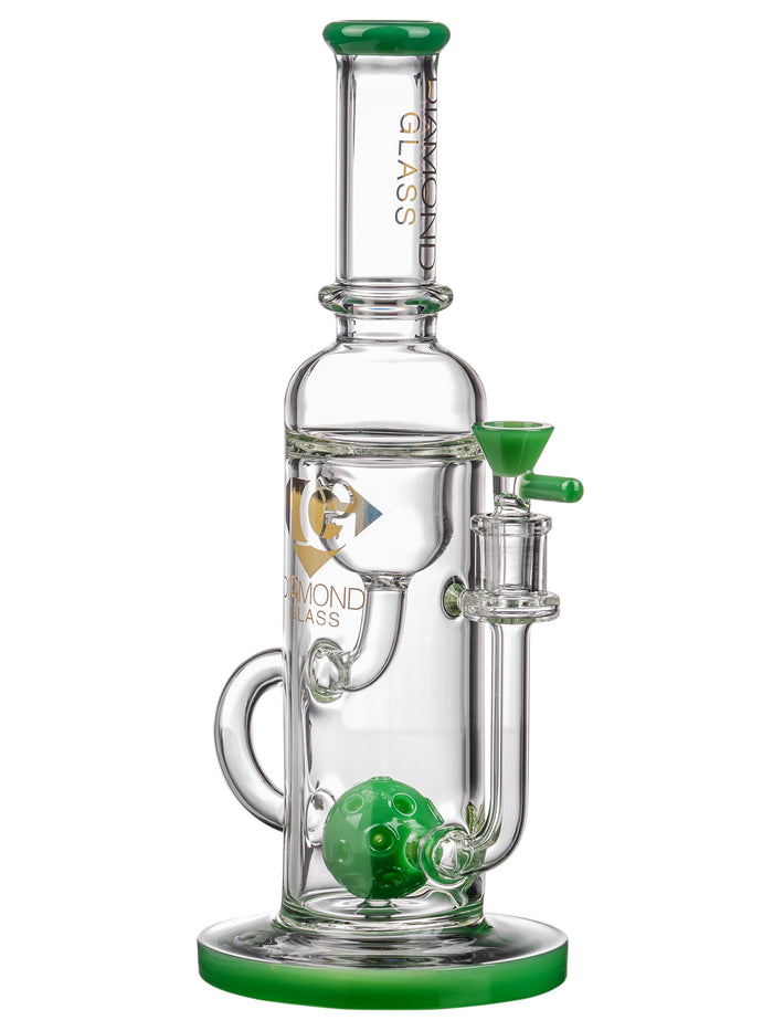 Diamond Glass Ball Perc Incycler Jade