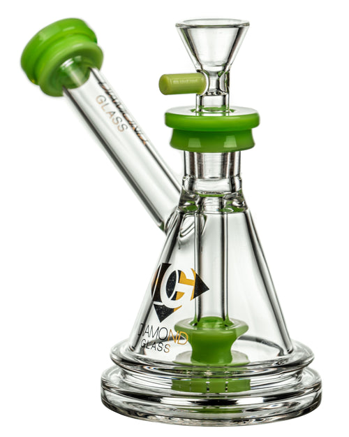Diamond Glass Gavel Hammer Bubbler Slyme Green