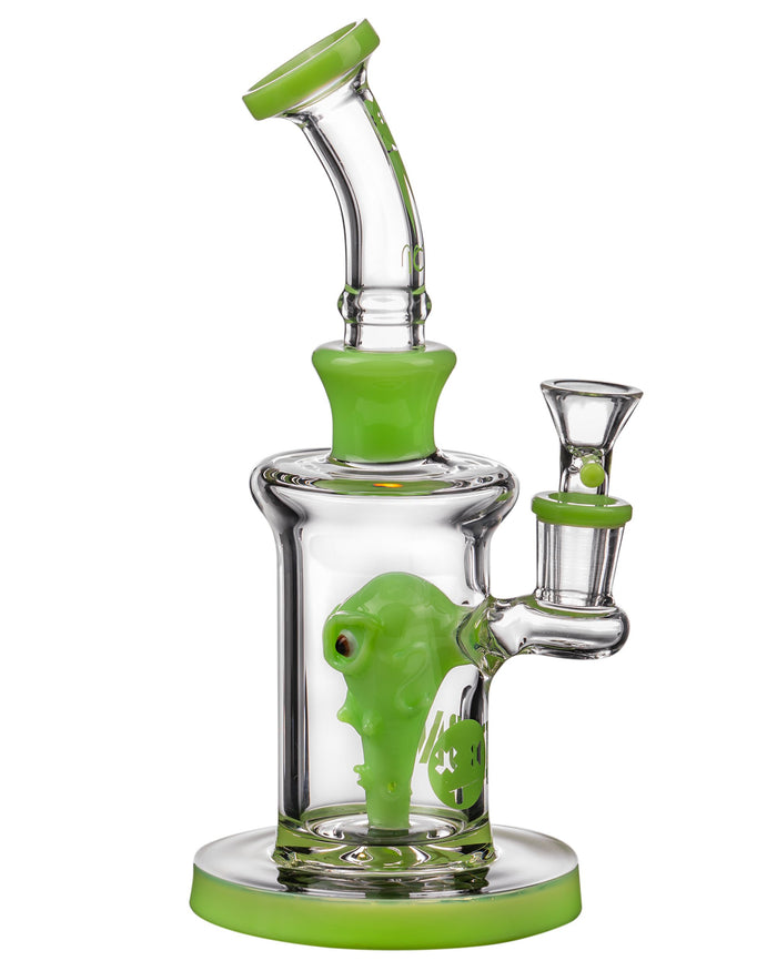 Diamond Glass Alien Head Perc Bong
