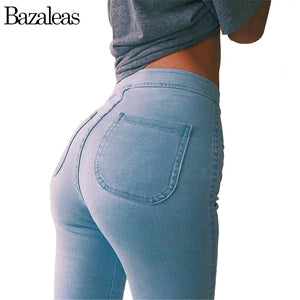 Ladies stretch skinny jeans