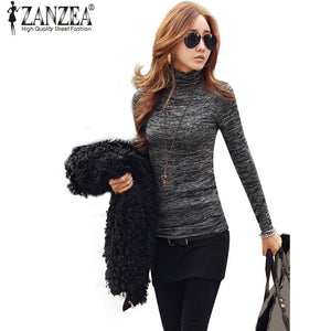 Women's High Neck Long Sleeve Sweater