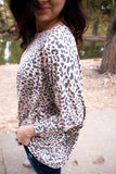 Kimmy Poncho Top in Pink Leopard