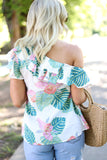 Palmetto Top in Mint/Pink