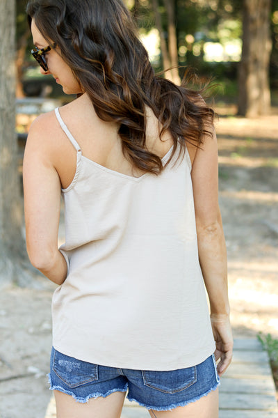 Amber Tank in Taupe