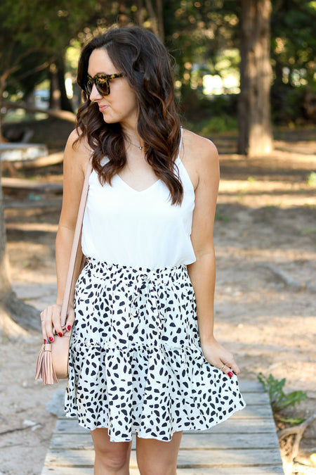 Jules Eyelet Top in White