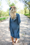 Arielle Cozy Cardigan in Blue