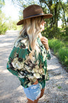 Sabrina Floral Top in Emerald