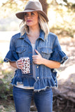 Braxten Ruffle Denim Jacket