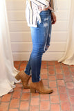 Tobin Camel Oil-Distressed Booties