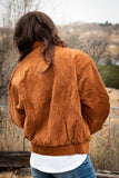 Benson Bomber Jacket in Rust