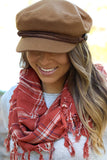 Brinkley Newsboy Cap in Camel