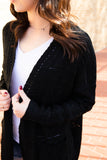 Quinn Lightweight Cardigan in Black